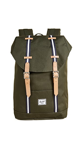 Herschel Supply Co. Retreat Mid Volume Backpack In Forest Green
