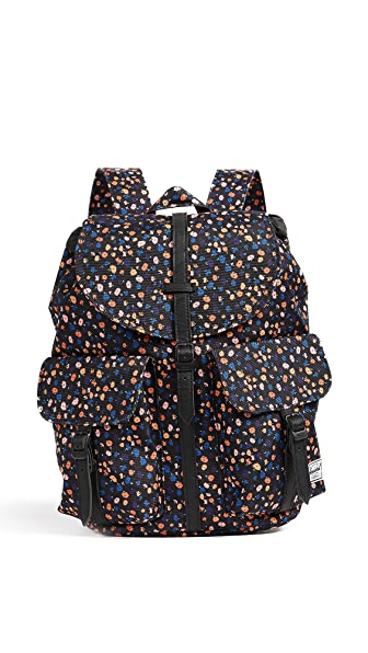Herschel Supply Co. Dawson Backpack In Black Mini Floral/Black