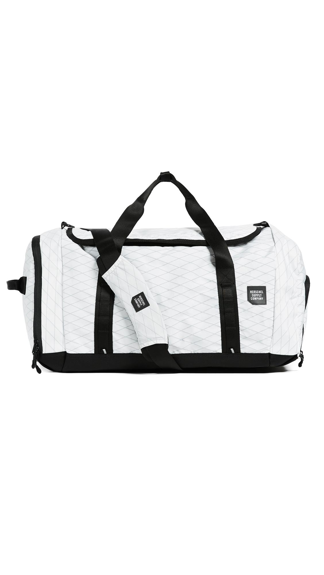 Herschel Supply Co. Gorge Large Duffel Bag In White Black   ModeSens f3302d7787