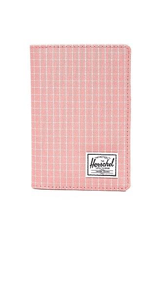 Herschel Supply Co. Raynor Passport Holder - Strawberry Grid