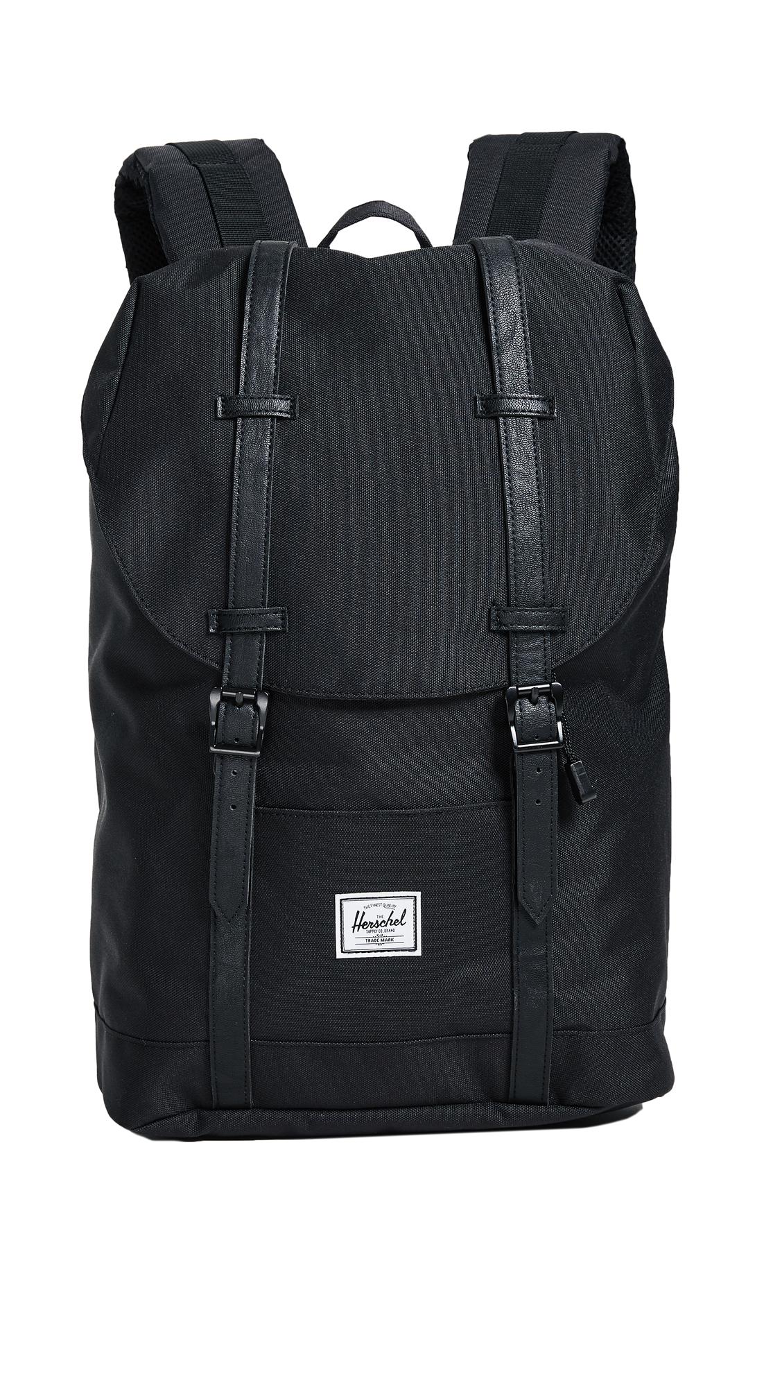 Herschel Supply Co. Retreat Mid Volume Backpack - Black/Black