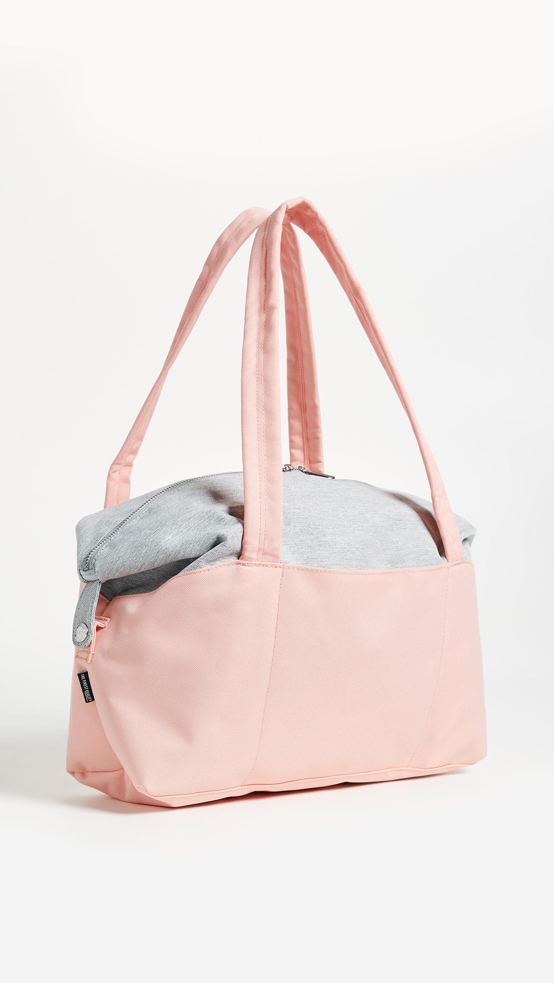 Herschel Strand X-Small (Peach/Light Grey Crosshatch) Duffel Bags 9d9FIqsbzN