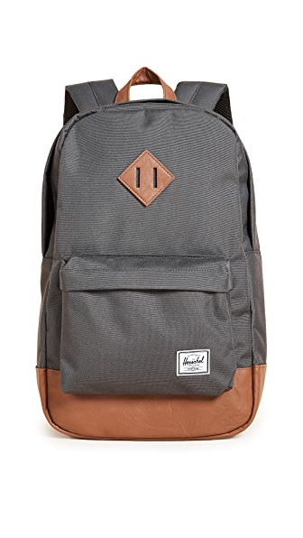 Herschel Supply Co. Heritage Mid Volume Backpack In Charcoal
