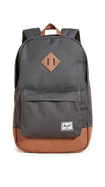 Herschel Supply Co. Heritage Mid Volume Backpack In Charcoal