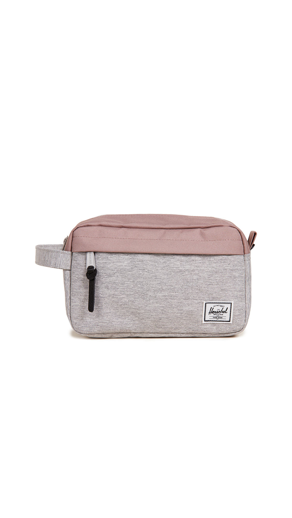 Chapter Cosmetic Bag, Light Grey Crosshatch/Ash Rose