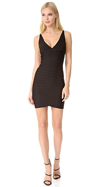 Herve Leger Signature Essentials Cocktail Bandage Dress