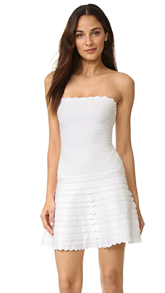 Herve Leger Phoebe Strapless Dress