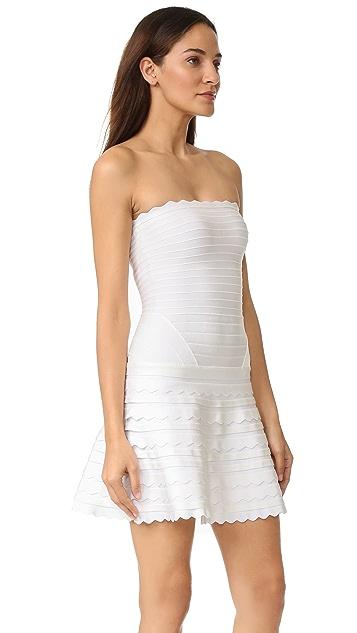 Herve Leger Phoebe Strapless Dress