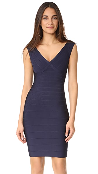 Herve Leger Sleeveless Cocktail Dress