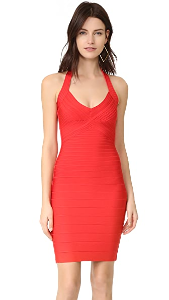 Herve Leger Adrienne Halter Dress