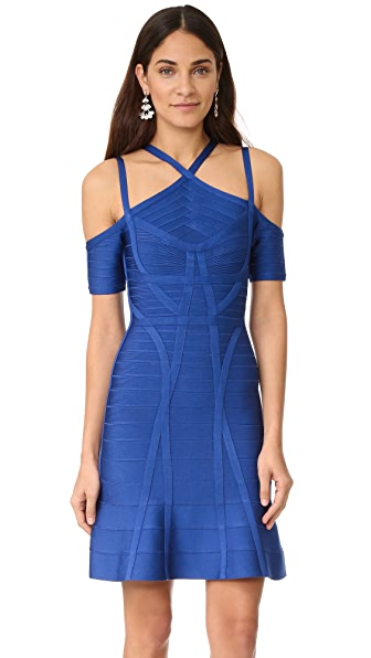 Herve Leger Chantelle Dress - Cobalt