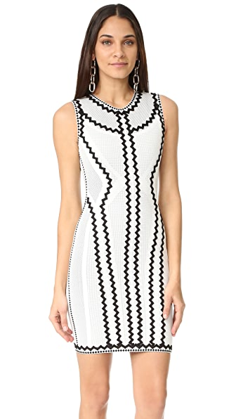 Herve Leger Imaan Zigzag Dress