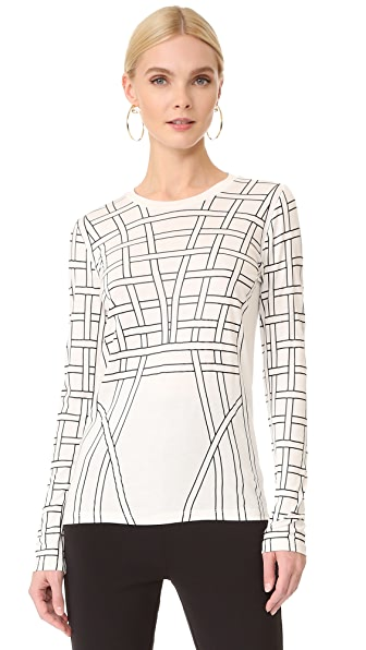 Herve Leger Long Sleeve T Shirt