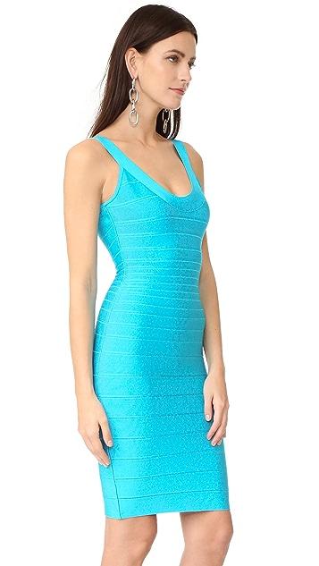 Herve Leger Sydney Sleeveless Cocktail Dress