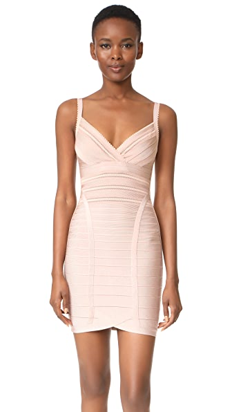 Herve Leger Sleeveless Dress - Bare