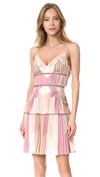 Herve Leger Sleeveless Dress - Champagne