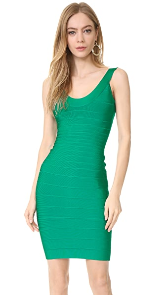 Herve Leger Sydney U Neck Dress