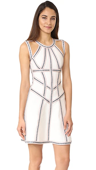 Herve Leger Sleeveless Dress - Alabaster
