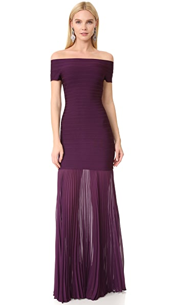 Herve Leger Breanna Off the Shoulder Dress