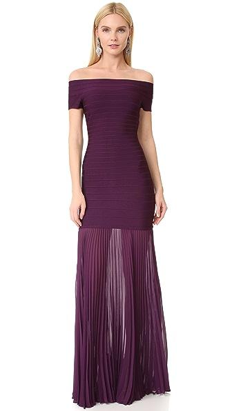 Herve Leger Платье с открытыми плечами Breanna