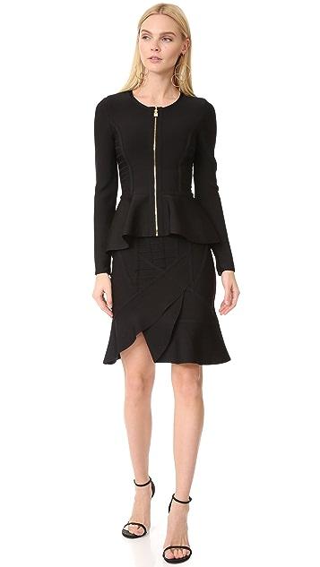 Herve Leger Adalie Ruffle Skirt