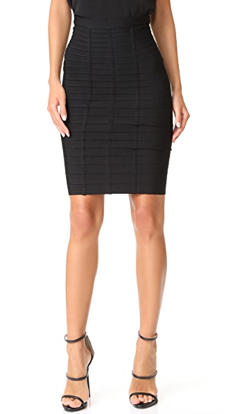 Herve Leger Skirt In Black