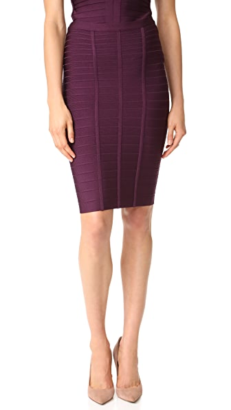 Herve Leger Skirt - Bordeaux