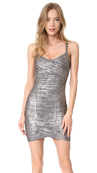 Herve Leger Kourtney Mid Thigh Dress