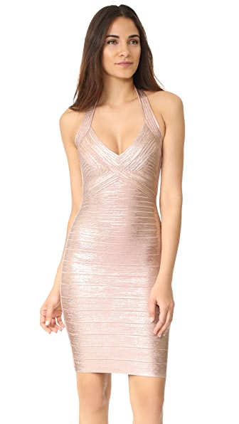 Herve Leger Jessilyn Halter Dress