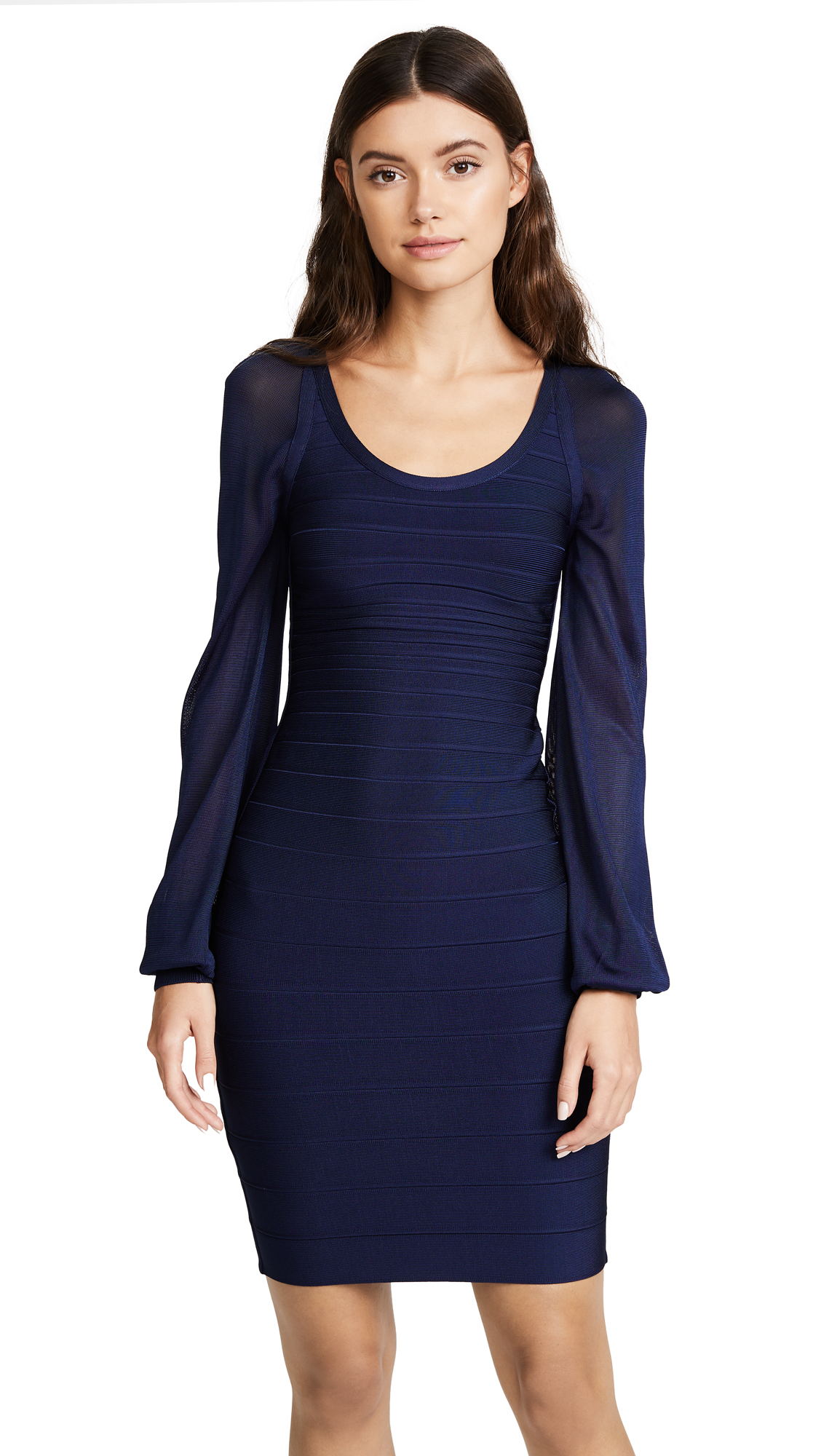 Herve Leger Laurie Dress - Classic Blue