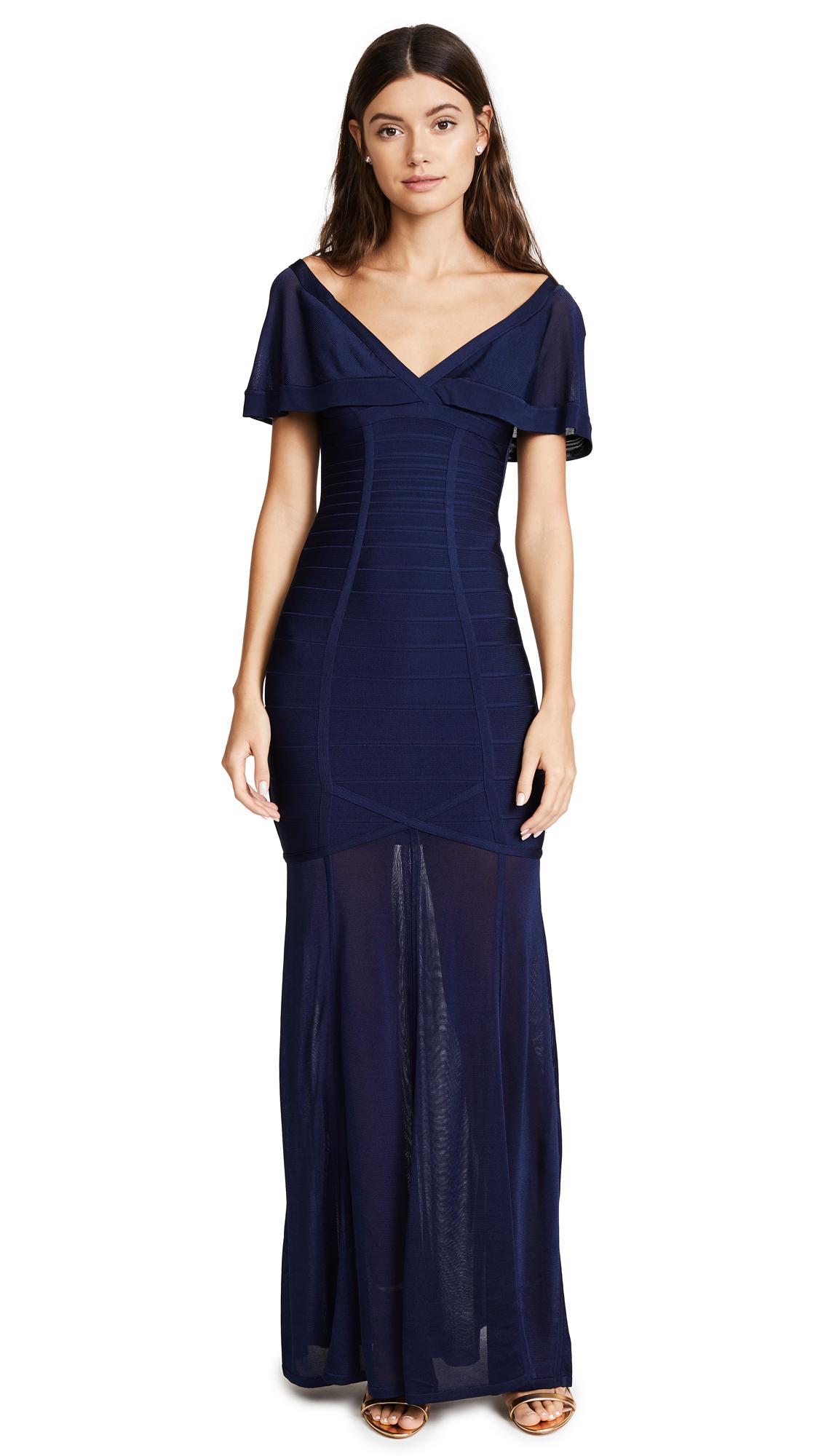 Herve Leger Caitlin Dress - Classic Blue