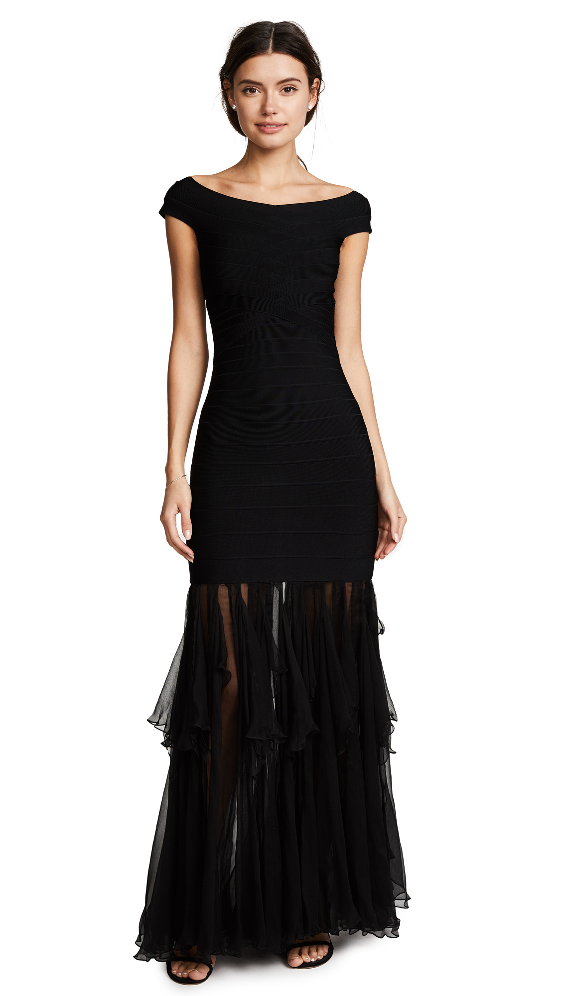 Herve Leger Roma Gown - Black