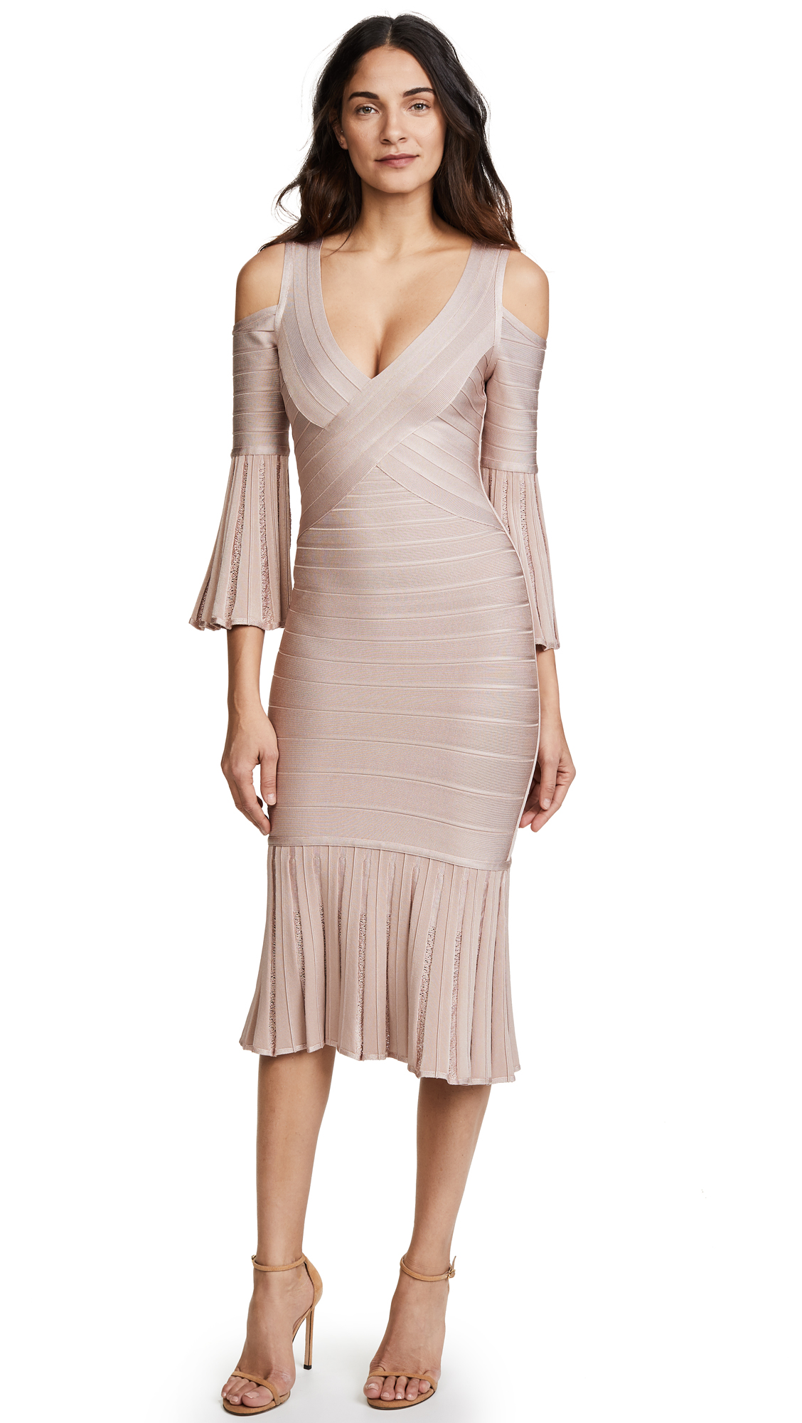 Herve Leger Autumn Dress - Bare
