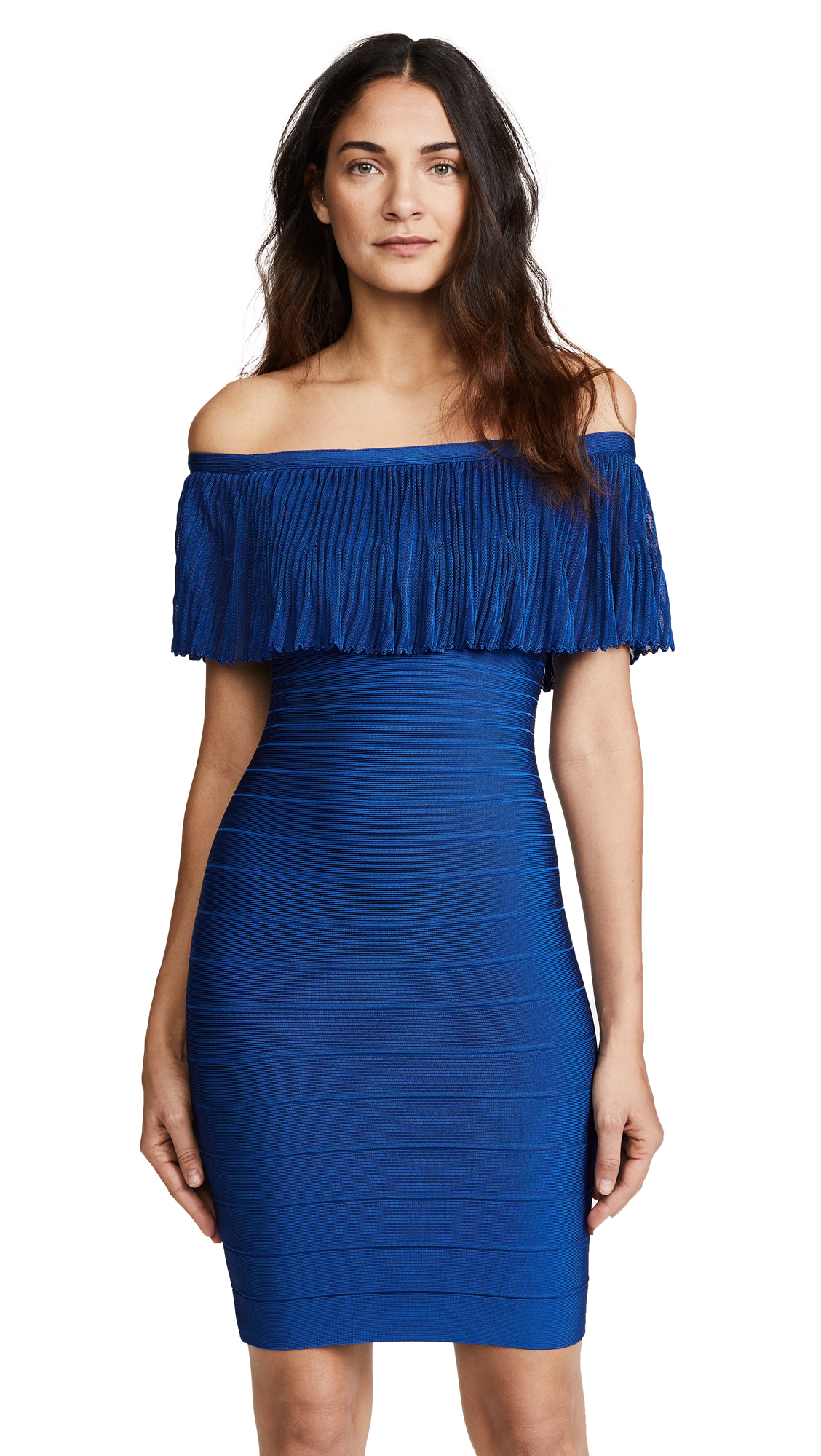 Herve Leger Lucee Dress - Lapis