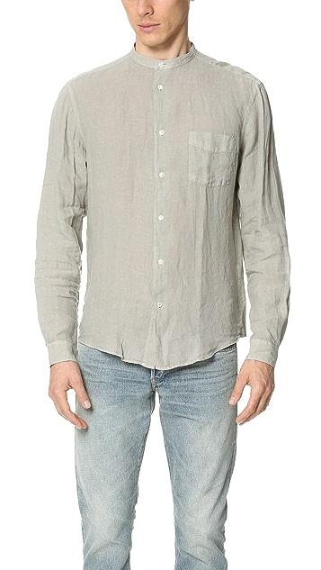 Hartford Band Collar Linen Shirt