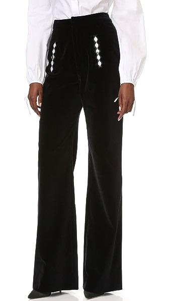 Holly Fulton Бархатные брюки