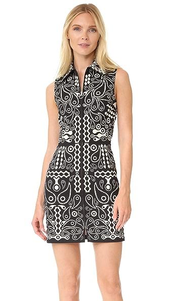 Holly Fulton Платье из хлопка с принтом