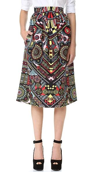 Holly Fulton Print Midi Skirt