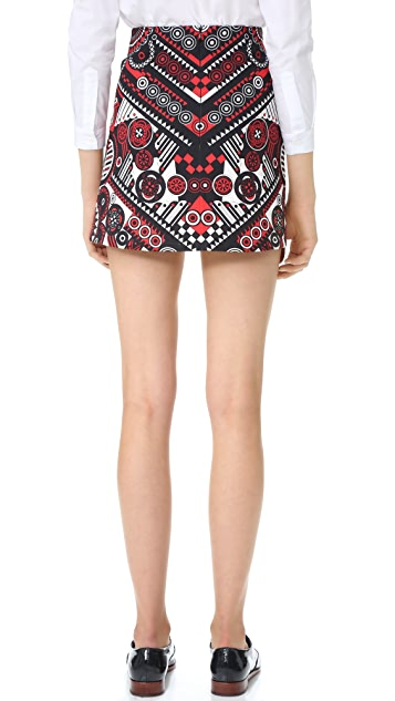 Holly Fulton Print Miniskirt