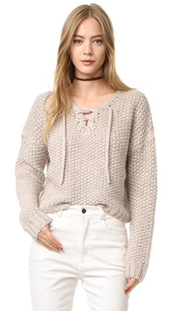 Intropia Lace Up Sweater