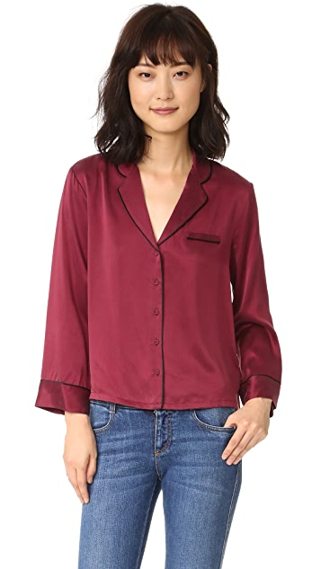 Intropia Silk Pajama Blouse