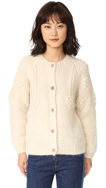 Intropia Floral Embroidered Cardigan