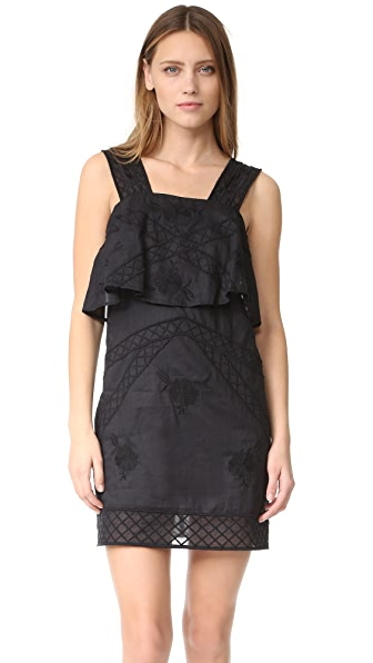 Intropia Embroidery Dress - Black