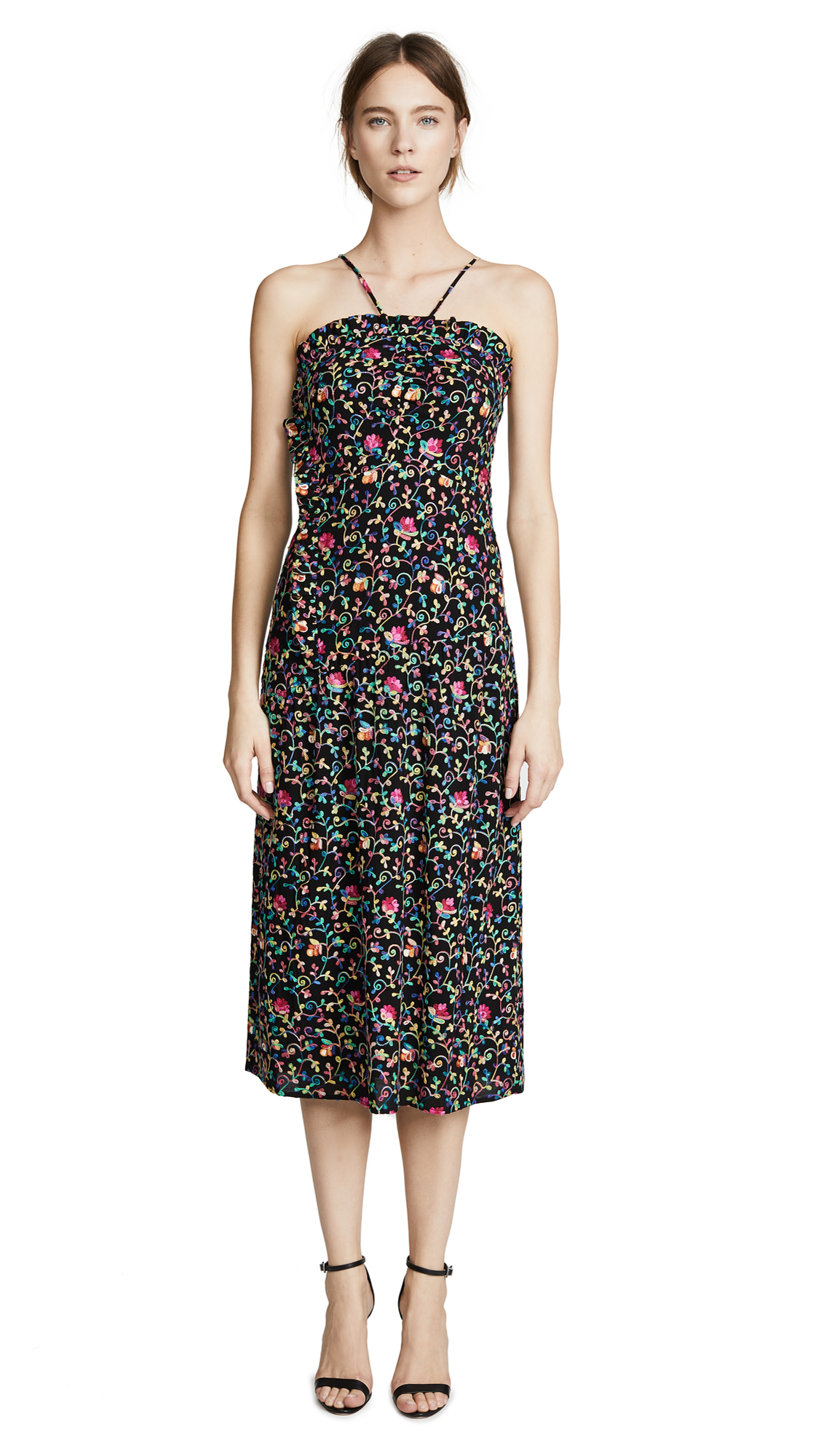 Intropia Multi Midi Dress In Multicolor