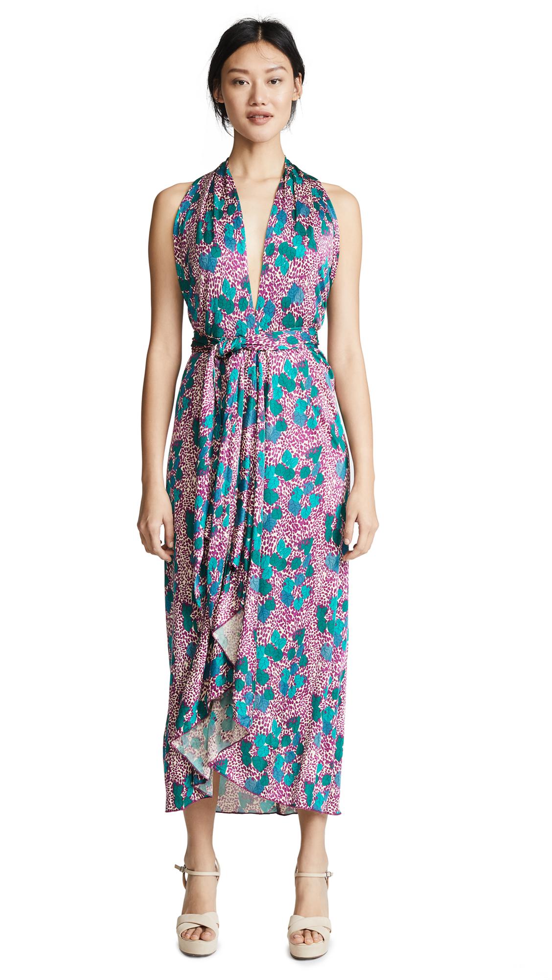 Intropia Deep V Midi Dress