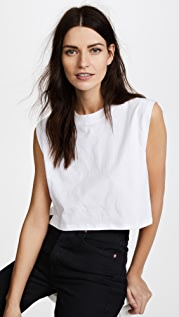 x karla The Sleeveless Crop Tee