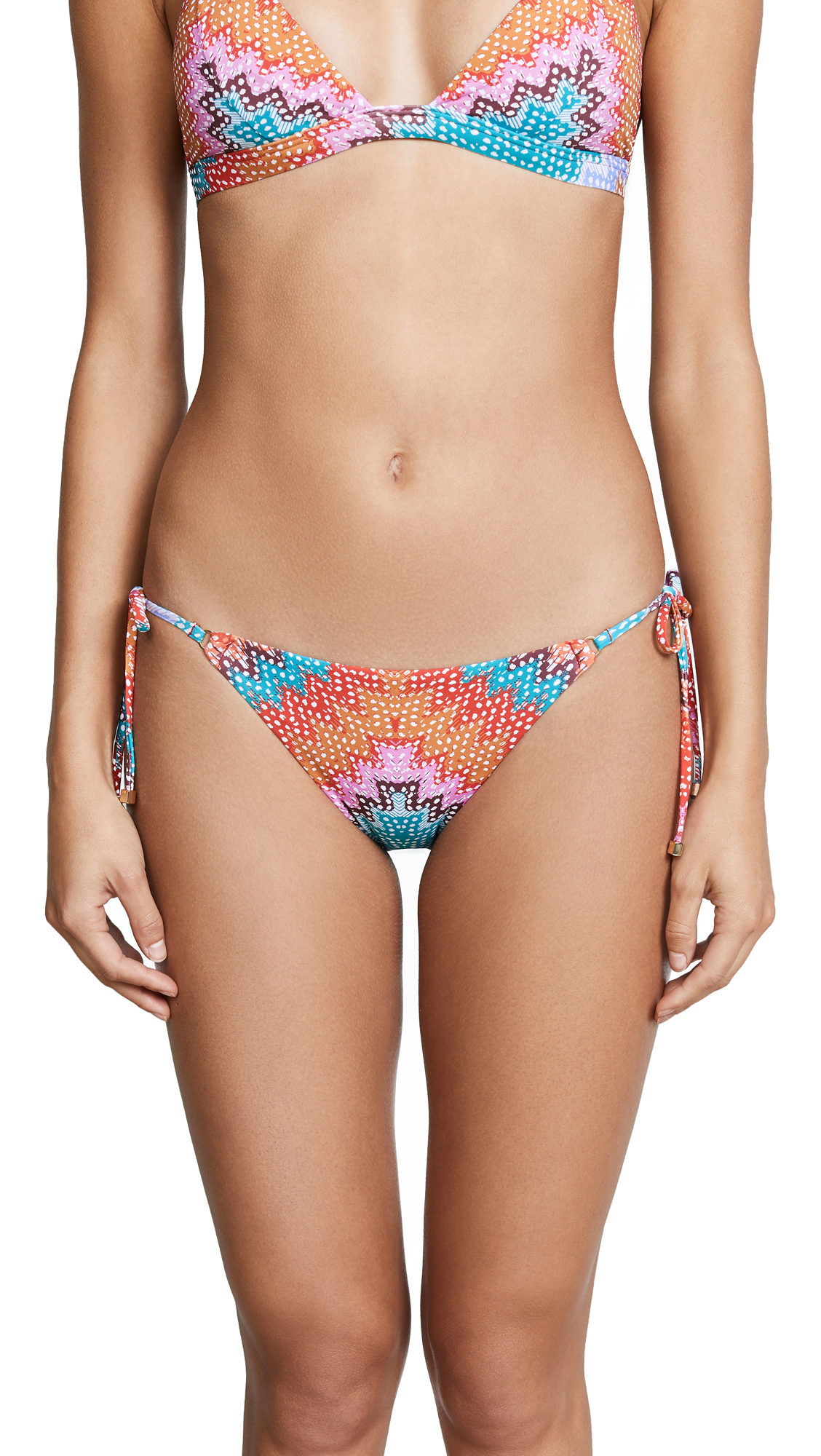 Heidi Klum Antaria Tie Side Bikini Bottoms In Chevron