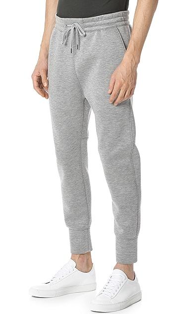 Helmut Lang Sponge Fleece Curved Leg Track Pants