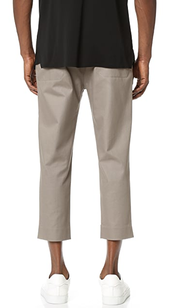 Helmut Lang Stretch Twill Front Cuff Suiting Trousers