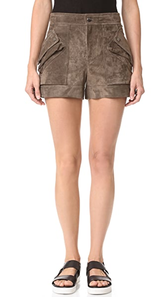 Helmut Lang Patch Pocket Shorts - Mortar